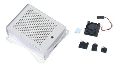 Gehäuse für Raspberry Pi 4, Aluminium, mit VESA-Halterungen 75x75 - braspi