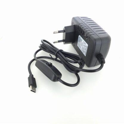 USB-C Netzteil mit Ein / Aus Schalter Raspberry pi 4